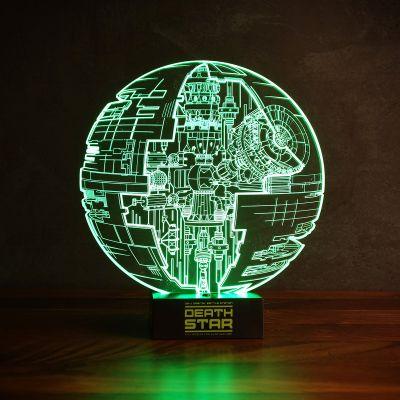 Films & Télévision  - Lampe Étoile de la Mort Star Wars – Effet 3D
