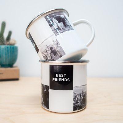 Cadeau d'adieu - Tasse en métal personnalisable avec photos et texte