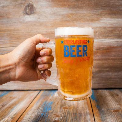 Cadeau papa - Verre à Bière Toujours Plein