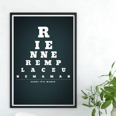 Cadeau 50 ans - Vision de Loin - Poster personnalisable
