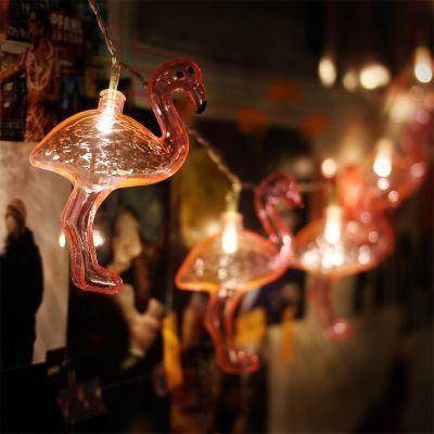 Cadeau romantique - Guirlande lumineuse Flamant Rose