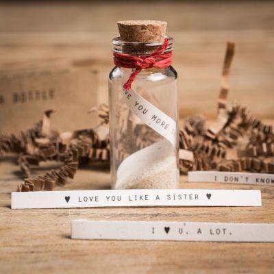 Cadeau romantique - Sets pour une bouteille à la mer