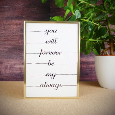 Cadeau romantique - Poster You Will Forever