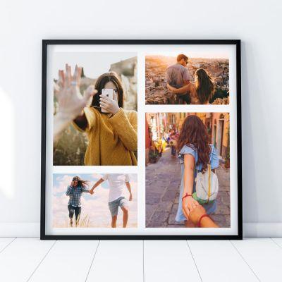 Cadeau d'adieu - Poster Photo Personnalisable - 4 images