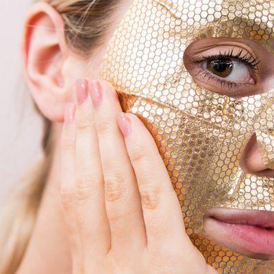Idées cadeaux pour mettre dans le calendrier de l'avent - Masque du Visage - Feuille d'or