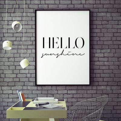 Posters exclusifs - Hello Sunshine Poster par MottosPrint