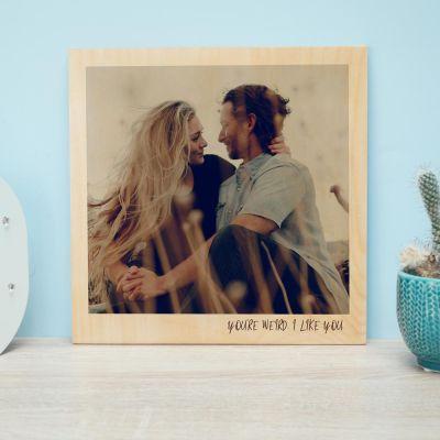 e9b9e816090b Cadeaux de Noël pour papa - Photo Personnalisable sur Bois - Effet Polaroid