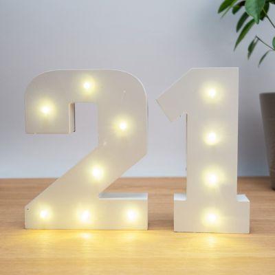 Idées cadeaux pour mettre dans le calendrier de l'avent - Numéros Lumineux en Bois