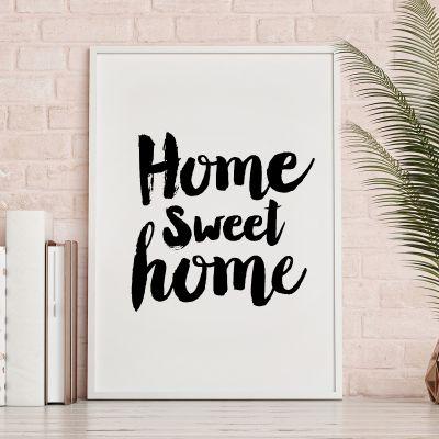 Poster - Home Sweet Home Poster par MottosPrint