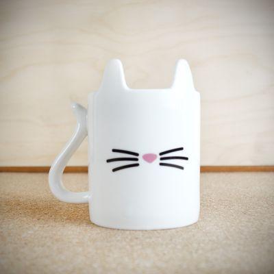 Cadeau crémaillère - Tasse Chat Blanc