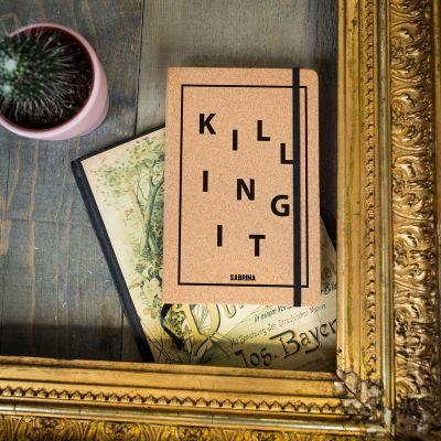Idée cadeau femme - Carnet en liège Personnalisable Killing It