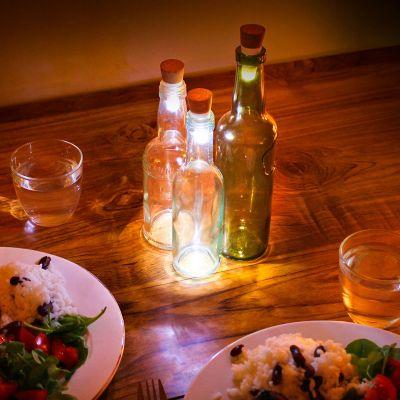 Cadeau anniversaire de mariage - Lumières LED pour bouteille avec USB