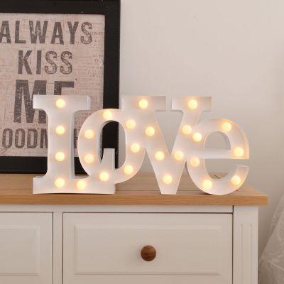 Cadeau anniversaire de mariage - Lampe LED – Love