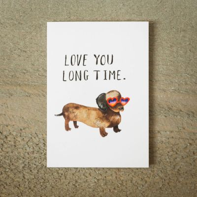 Cadeau Saint Valentin Homme - Carte de vœux Love You Long Time