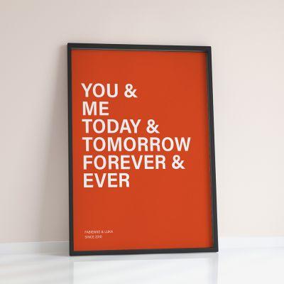 Cadeau romantique - You + Me + … - Poster Personnalisable