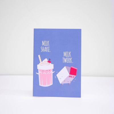 Cadeaux rigolos - Carte de vœux Milk Shake Milk Twerk