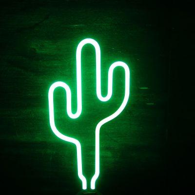 SOLDES - Lampe Néon Cactus