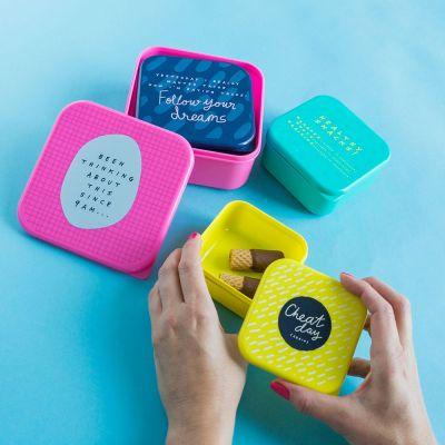 Cadeau maman - Lunchboxes empilables Notes To Self – Ensemble de 4
