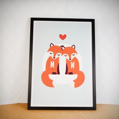 Poster personnalisable - Couple Renard – Poster personnalisable