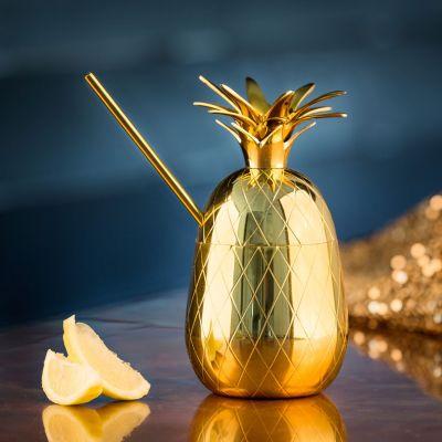 Cadeau romantique - Verre à cocktails en métal Ananas
