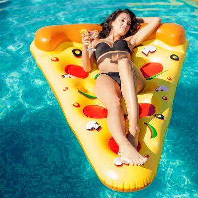 Cadeau anniversaire Femme - Bouée gonflable Pizza
