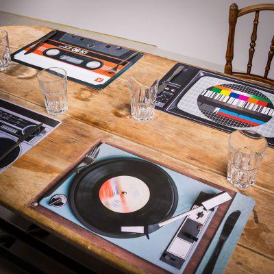 Cadeau couple - Sets de table Rétro – 4 pièces