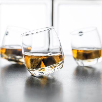 Cadeau anniversaire papa - Verres à Whisky toupie (Set de 6 verres)