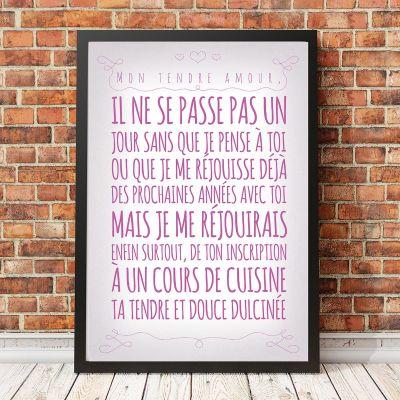 Poster - Affiche Romantique personnalisable