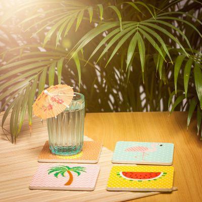 Décoration & Mobilier - Sous-tasses Tropical - Set de 4