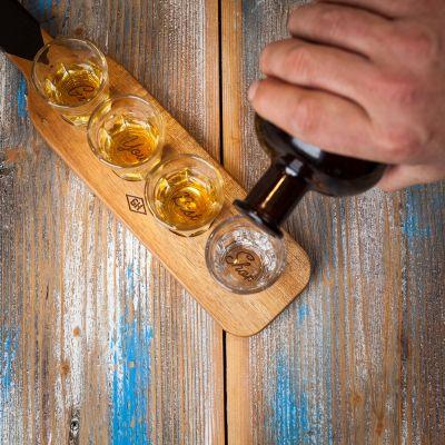 Accessoires de bar - Service Paddle avec Verres à Shot
