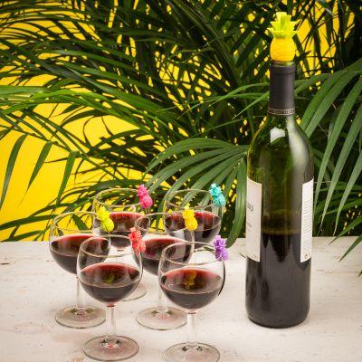 Cadeau papa - Marqueurs de verres et Bouchon Ananas