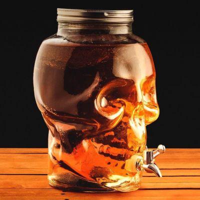 Cadeau d'Halloween - Distributeur de Boissons Tête de Mort