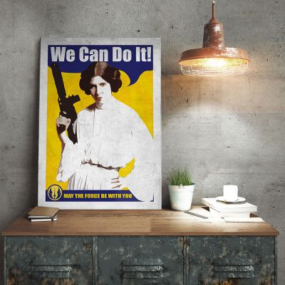 Films & Télévision  - Poster Métallique Star Wars - Leia