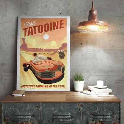 Cadeau crémaillère - Poster Métallique Star Wars - Tatooine