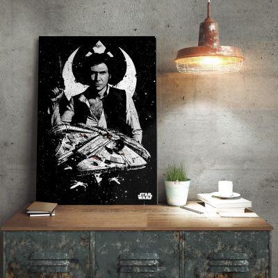 Cadeau papa - Poster métallique Star Wars – Han Solo