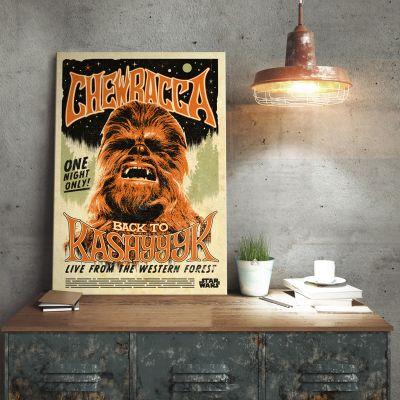 Films & Télévision  - Poster métallique Star Wars – Chewbacca
