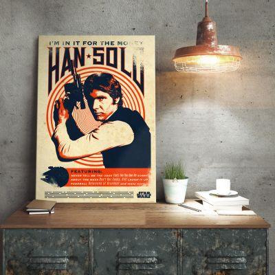 Films & Télévision  - Poster métallique Star Wars – Han Solo Retro