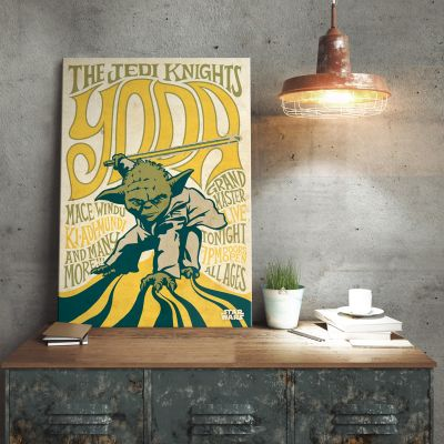 Cadeau anniversaire papa - Poster métallique Star Wars – Yoda