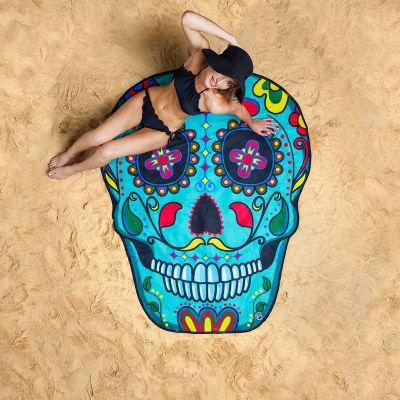 Cadeau anniversaire Femme - Serviette de plage Sugar Skull