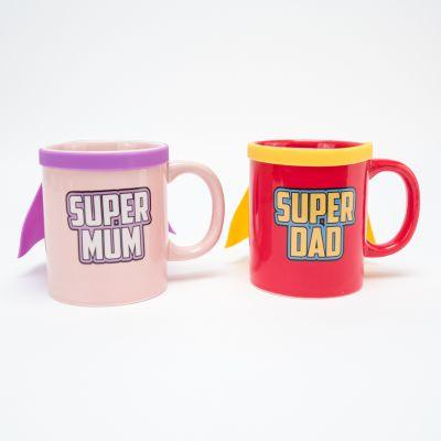 Verres & Mugs - Tasse Super Mum & Super Dad
