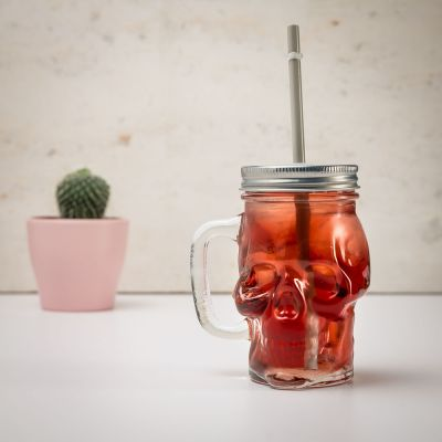 Cadeau d'Halloween - Bocal Tête de mort
