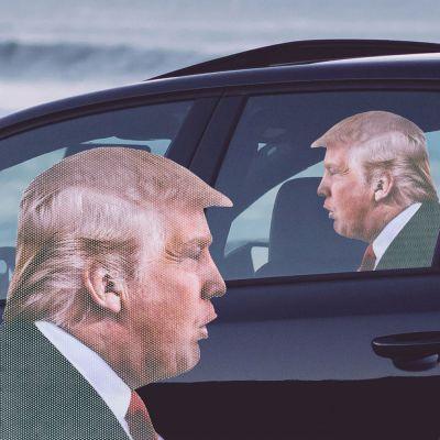 Cadeaux rigolos - Autocollant de voiture Trump