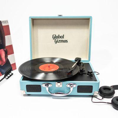 Cadeau anniversaire Femme - Platine Vinyle Valise Rétro