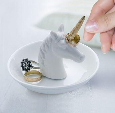Idées cadeaux pour mettre dans le calendrier de l'avent - Soucoupe à bijoux Licorne