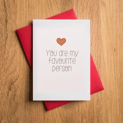 Cadeau romantique - Carte de Saint-Valentin - Tu Es Ma Personne Préférée