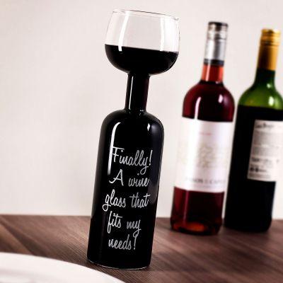 Cadeaux de Noël pour femme - Verre de vin en forme de bouteille