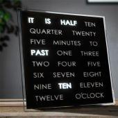 Horloges à mots LED