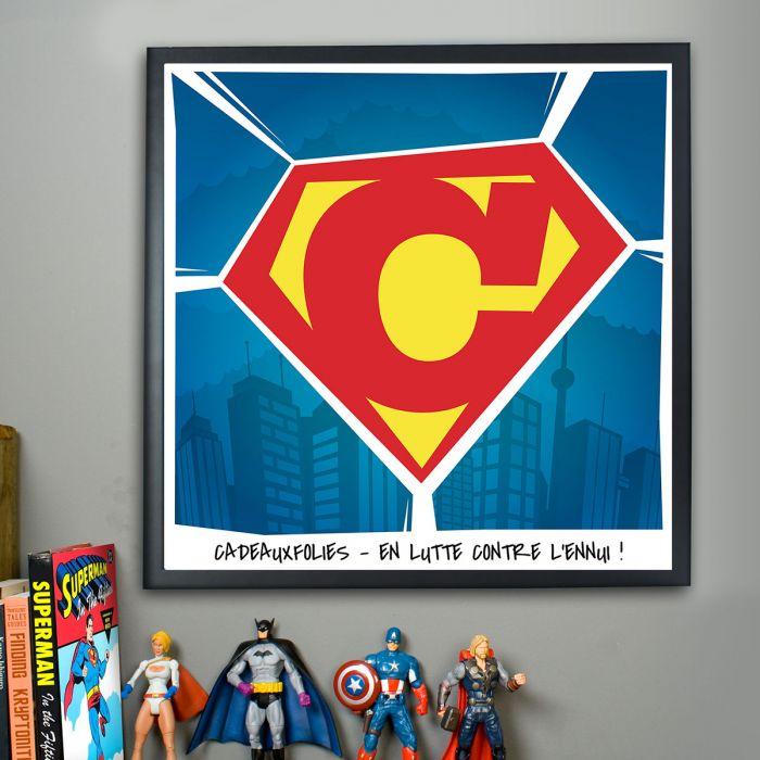 Superman poster personnalisable for Bureau 39 superman