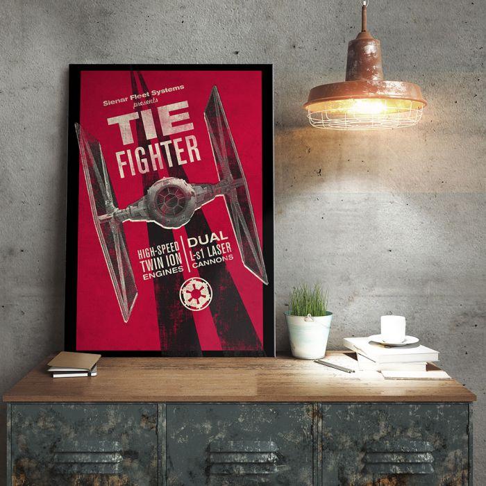 Poster Métallique Star Wars - Tie Fighter