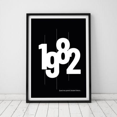 Année de Naissance - Poster Personnalisable